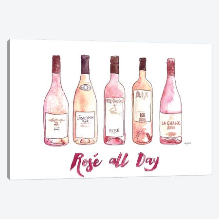 Rose All Day Canvas Print #KMT116} by Kelsey McNatt Canvas Art