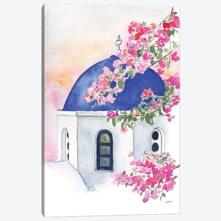 Santorini Canvas Print #KMT117} by Kelsey McNatt Canvas Art