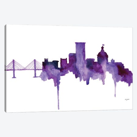 Savannah Skyline Canvas Print #KMT118} by Kelsey McNatt Art Print