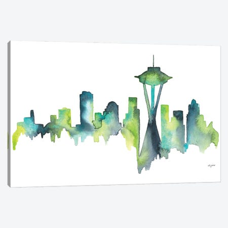 Seattle Skyline Canvas Print #KMT119} by Kelsey McNatt Canvas Print