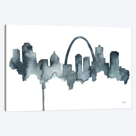 St Louis Skyline Canvas Print #KMT123} by Kelsey McNatt Canvas Art