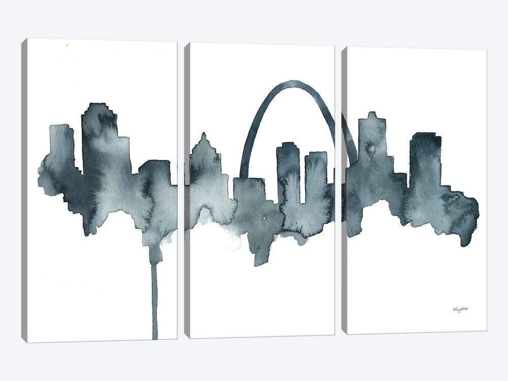 St Louis Skyline by Kelsey McNatt 3-piece Art Print