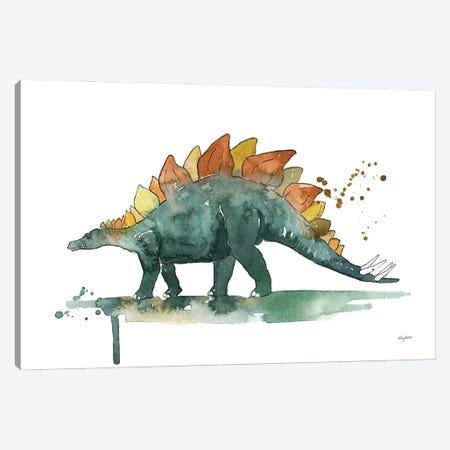 Stegosaurus Canvas Print #KMT124} by Kelsey McNatt Art Print