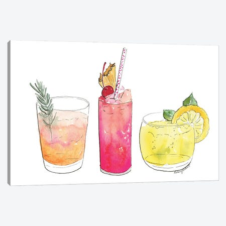 Summer Cocktails Canvas Print #KMT126} by Kelsey McNatt Canvas Art Print