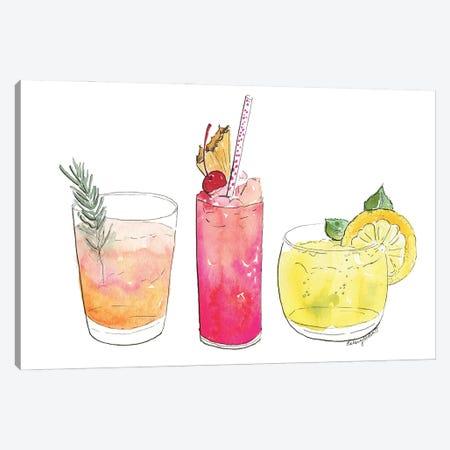 Summer Cocktails Canvas Print #KMT126} by Kelsey McNatt Canvas Art Print