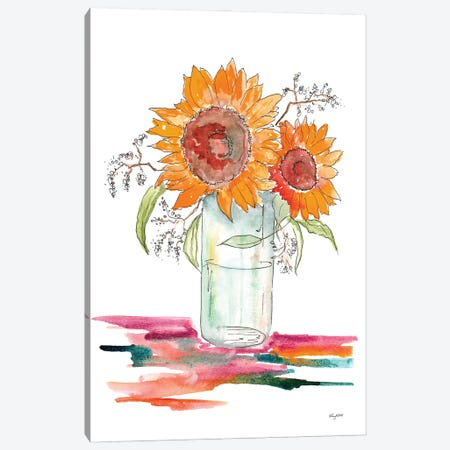 Sunflower Canvas Print #KMT128} by Kelsey McNatt Canvas Art