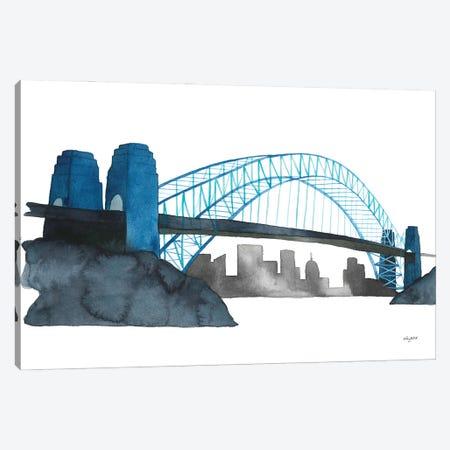Sydney Harbor Bridge Canvas Print #KMT129} by Kelsey McNatt Canvas Wall Art