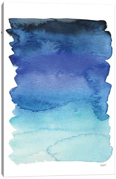 Blue Abstract IV Canvas Art Print
