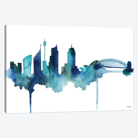 Sydney Skyline Canvas Print #KMT130} by Kelsey McNatt Canvas Art Print