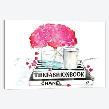 The Fashion Book Canvas Print #KMT131} by Kelsey McNatt Canvas Print