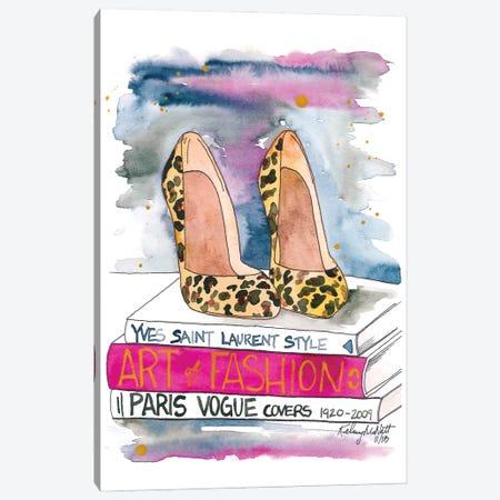 The Leopard Heel Canvas Print #KMT132} by Kelsey McNatt Canvas Art Print