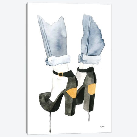 The Plated Heel Canvas Print #KMT134} by Kelsey McNatt Canvas Artwork