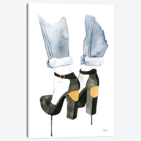 The Plated Heel Canvas Print #KMT134} by Kelsey McNatt Canvas Artwork