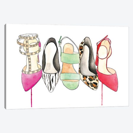 The Shoe Collection Canvas Print #KMT135} by Kelsey McNatt Canvas Art