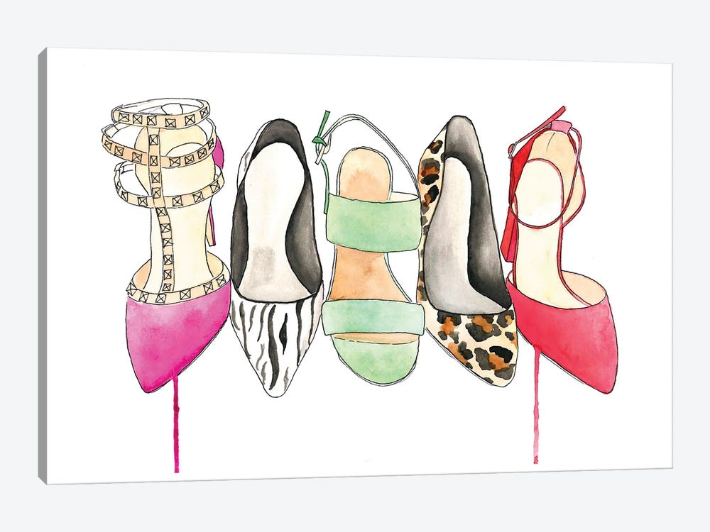The Shoe Collection by Kelsey McNatt 1-piece Canvas Art