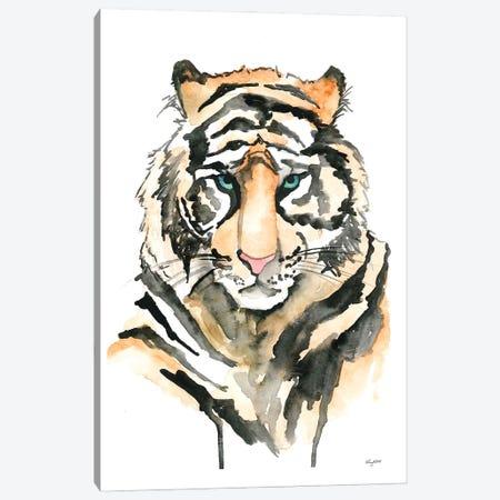 Tiger Canvas Print #KMT136} by Kelsey McNatt Canvas Art