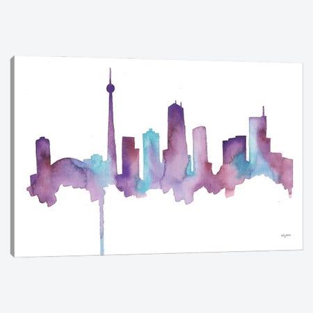 Toronto Skyline Canvas Print #KMT137} by Kelsey McNatt Canvas Artwork