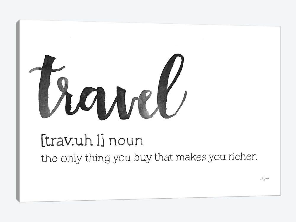 Travel Definition by Kelsey McNatt 1-piece Canvas Print