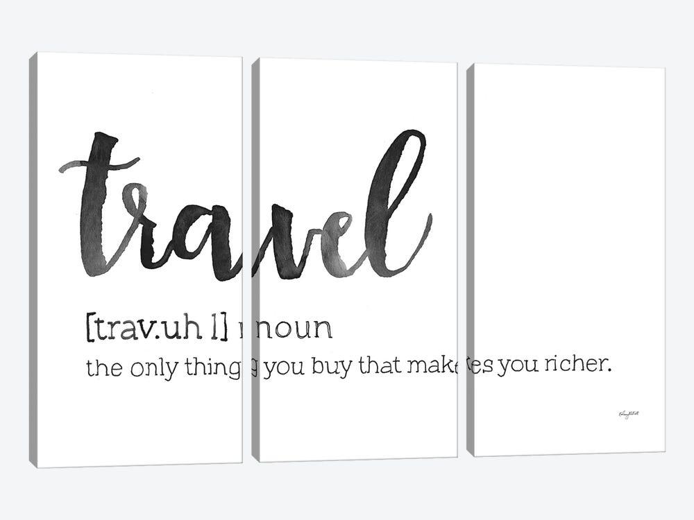 Travel Definition by Kelsey McNatt 3-piece Canvas Print