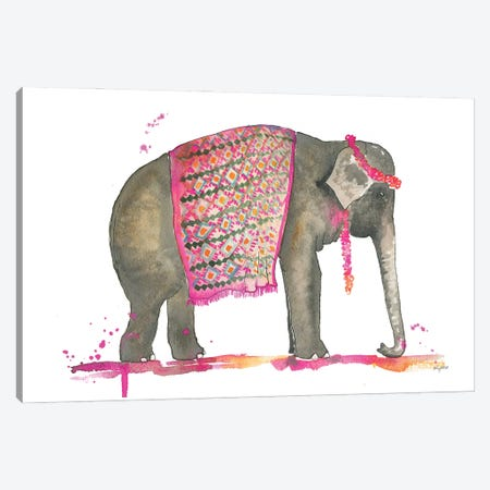 Tribal Elephant Canvas Print #KMT140} by Kelsey McNatt Canvas Art