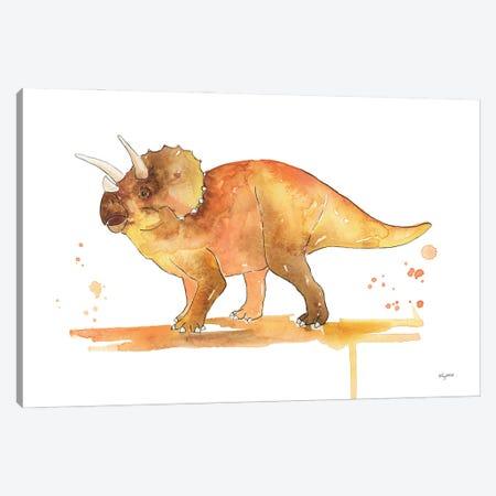 Triceratops Canvas Print #KMT142} by Kelsey McNatt Canvas Artwork