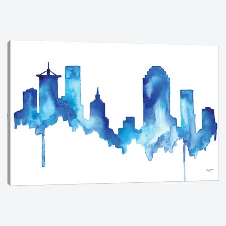 Tulsa Skyline Canvas Print #KMT143} by Kelsey McNatt Canvas Wall Art