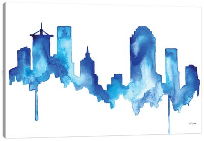 Tulsa Skyline Canvas Art Print