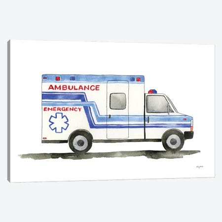 Ambulance Canvas Print #KMT145} by Kelsey McNatt Canvas Print