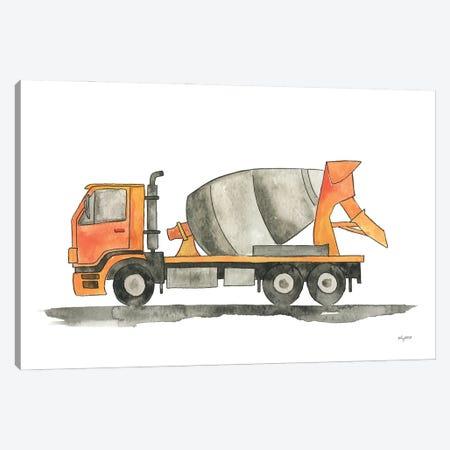Cement Truck Canvas Print #KMT148} by Kelsey McNatt Canvas Art