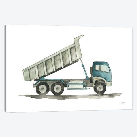 Dump Truck Canvas Print #KMT151} by Kelsey McNatt Art Print