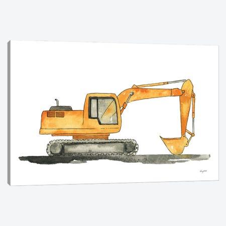 Excavator Canvas Print #KMT152} by Kelsey McNatt Canvas Art Print