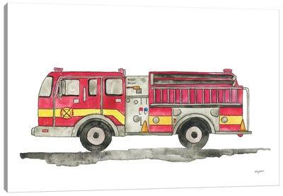 Fire Truck Canvas Art Print