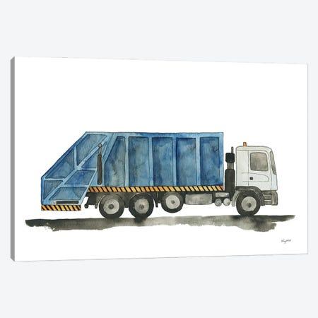 Garbage Truck Canvas Print #KMT154} by Kelsey McNatt Canvas Artwork
