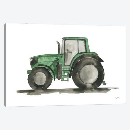 Green Tractor Canvas Print #KMT155} by Kelsey McNatt Canvas Wall Art