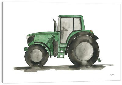 Green Tractor Canvas Art Print