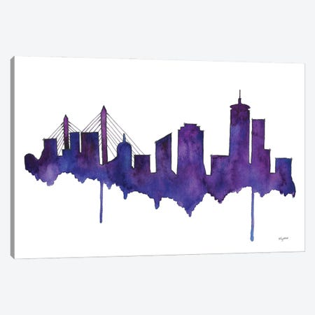 Boston Skyline Canvas Print #KMT15} by Kelsey McNatt Canvas Art Print