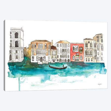 Venice Canals 3-Piece Canvas #KMT164} by Kelsey McNatt Canvas Print