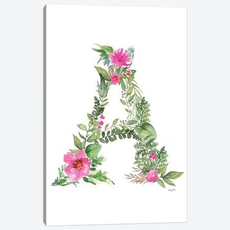 Botanical Letter A Canvas Print #KMT16} by Kelsey McNatt Canvas Print