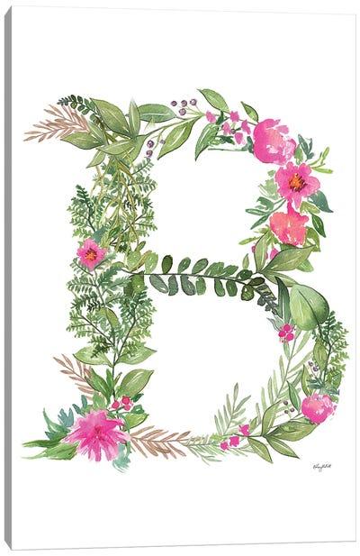Botanical Letter B Canvas Art Print