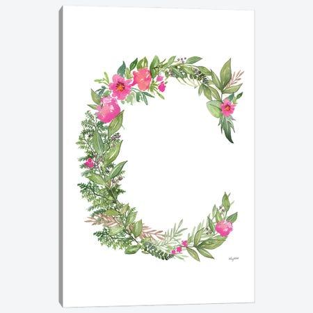 Botanical Letter C Canvas Print #KMT18} by Kelsey McNatt Canvas Art