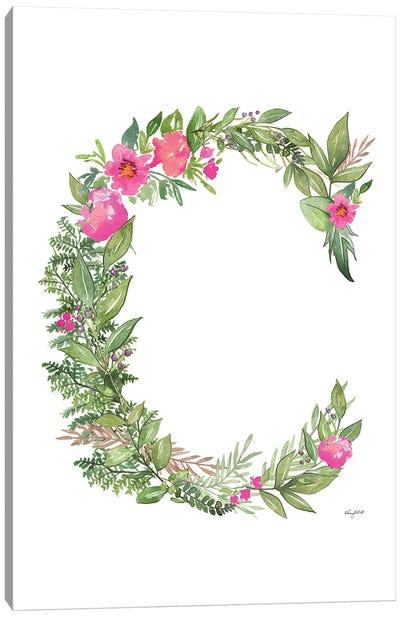 Botanical Letter C Canvas Art Print