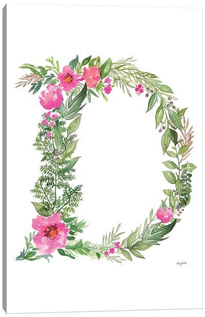 Botanical Letter D Canvas Art Print