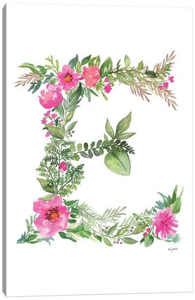 Botanical Letter E Canvas Art Print