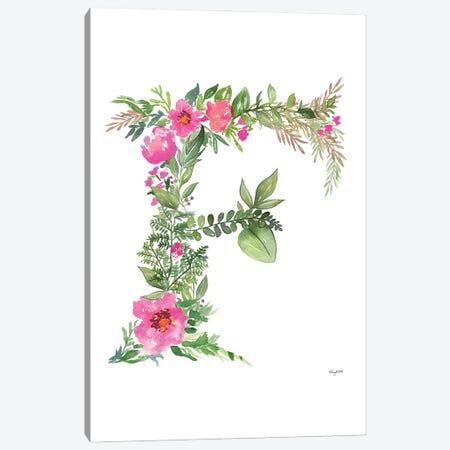 Botanical Letter F Canvas Print #KMT21} by Kelsey McNatt Canvas Art Print