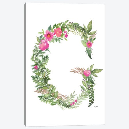 Botanical Letter G Canvas Print #KMT22} by Kelsey McNatt Canvas Print
