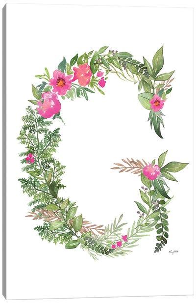 Botanical Letter G Canvas Art Print