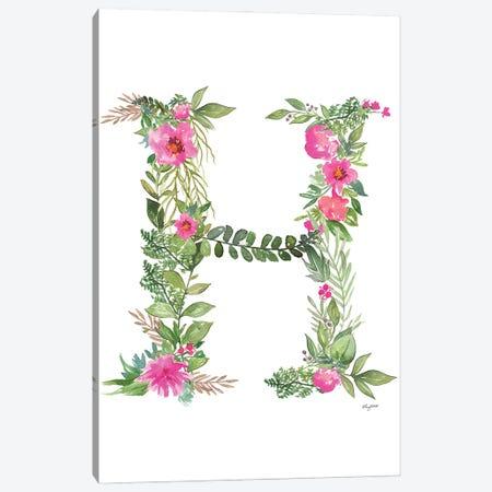 Botanical Letter H Canvas Print #KMT23} by Kelsey McNatt Canvas Art Print