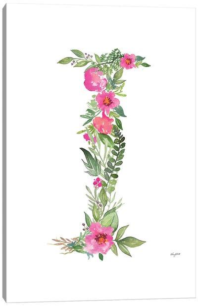Botanical Letter I Canvas Art Print