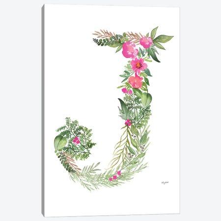Botanical Letter J Canvas Print #KMT25} by Kelsey McNatt Canvas Wall Art