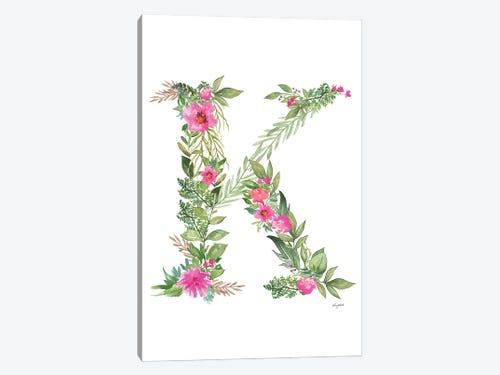 Botanical Letter K Canvas Artwork By Kelsey Mcnatt Icanvas